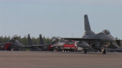 F-16 Fighting Falcon taxing at Red Flag Alaska Stock Footage