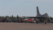 Stock Video Footage of F-16 Fighting Falcon taxing at Red Flag Alaska