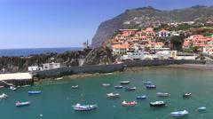 Fishing village Camara de Lobos, Madeira, Portugal Stock Footage