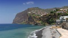 Cabo Girao cliff, Camara de Lobos, Madeira, Portugal Stock Footage