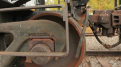 Train Car Wheel and Ladder - stock footage