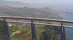Glass panoramic terrace on the top of Cabo Girao cliff, Madeira, Portugal Stock Footage