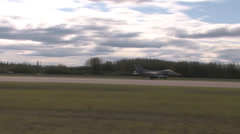 F-16 Fighting Falcon taking off at Red Flag Alaska Stock Footage