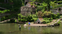Madeira, Monte Palace Tropical Garden, Funchal, Portugal Stock Footage