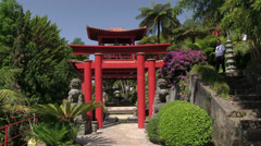 Madeira, Monte Palace Tropical Garden (Japanese Garden), Funchal, Portugal Stock Footage