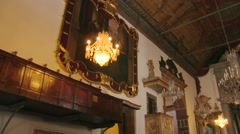 Interior of Nossa Senhora Church, Monte, Madeira, Portugal - stock footage