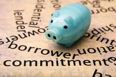 Stock Photo of borrower commitment concept