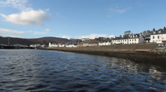 Ullapool waterfront Scotland Stock Footage