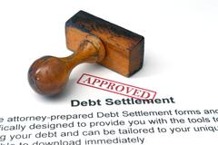 Debt settlement - approved Stock Photos
