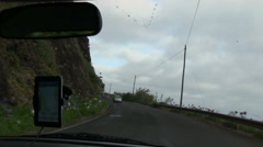Old tunnel, road from Ponta Delgada to Sao Vicente, Madeira, Portugal Stock Footage