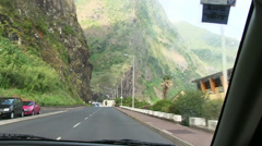 Sao Vicente, road to Funchal, Madeira, Portugal Stock Footage