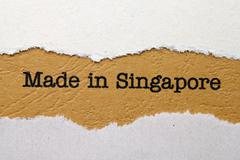 made in singapore - stock photo