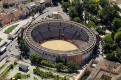 Aerial view of the bullring of jaen, andalusia, spain Stock Photos