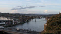 River Ness and Inverness Scotland Stock Footage