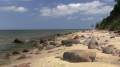 The Baltic Sea coast, Wolin, Poland Stock Footage