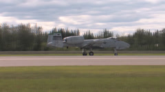 A-10 Thunderbolt II taking off Red Flag Alaska Stock Footage