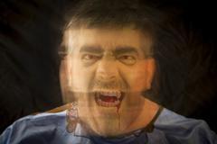 Angry vampire screaming Stock Photos