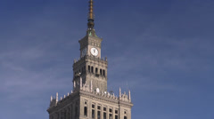 Warsaw, Palace of Culture and Science, Poland Stock Footage