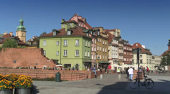 Warsaw, Castle Square on the Old Town, Poland Stock Footage