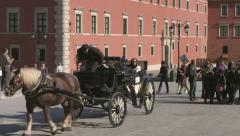 Warsaw, Castle Square on the Old Town, Poland - stock footage