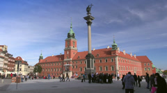 Warsaw, Royal Castle on the Castle Square, Poland Stock Footage