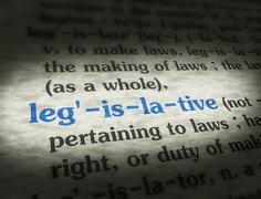 Stock Media - Dictionary - Legislative - Blue On BG - stock photo