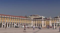 Lisbon, Commerce Square (Praca do Comercio), Portugal - stock footage