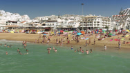 Stock Video Footage of Albufeira Beach, Algarve coast, Portugal