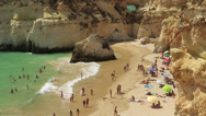 Stock Video Footage of Prainha Beach near Alvor, Algarve, Portugal