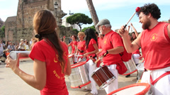 Drumming in the streets 4 Stock Footage