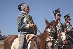 representation of the battle of bailen, bailén jaén province, andalusia - stock photo