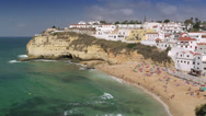 Stock Video Footage of Algarve coast at Carvoeiro village, Portugal