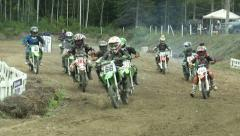 Start motocross race youngster Stock Footage