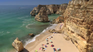 Stock Video Footage of Algarve, Praia da Marinha Beach, Portugal
