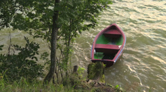 Fishing boat, Masuria Lakes, Poland Stock Footage