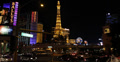 Ultra HD 4K Eiffel Tower Paris Hotel Nightlife Crowded Las Vegas Strip Traffic 4k or 4k+ Resolution
