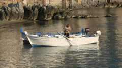 Cefalu, Medieval fishing port, Cefalu old town, Sicily, Italy Stock Footage