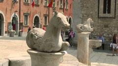 Taormina, Cathedral of San Nicola, Corso Umberto, Sicily, Italy Stock Footage