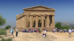 Agrigento, Temple of Concordia, Valley of Temples, Sicily, Italy Stock Footage