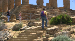 Agrigento, Valley of Temples, Temple of Hera, Sicily, Italy Stock Footage
