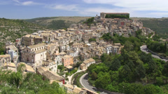 Ragusa Ibla, Old Town view,  Sicily, Italy Stock Footage