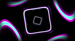 Square Blob Looped - stock footage