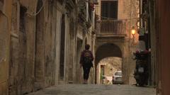 Siracusa, Ortigia, Old Town street, Sicily, Italy Stock Footage