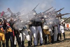 Representation battle of Bailen, Bailén,  Jaén province, Andalusia, Spain - stock photo