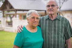 USA, Texas, Portrait of senior couple Stock Photos