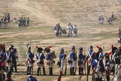 Representation Battle of Bailen Bailén,  Jaén province, Andalusia, Spain - stock photo