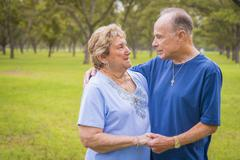USA, Texas, Portrait of senior couple Stock Photos