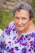 USA, Texas, Portrait of senior woman Stock Photos