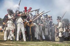 Representation of the battle of Bailen, Bailén,  Jaén province, Andalusia, Spain - stock photo