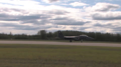 F-15 Eagle taking off Red Flag Alaska Stock Footage